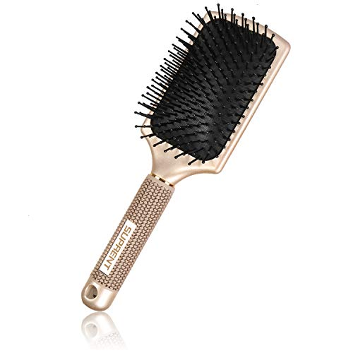 Paddle Bürste,SUPRENT Paddle Brush,Paddelbürste Velvet Touch Paddel-Haarbürste, professionelle Tangling-Haarbürste zum Trocknen, Glätten und Glätten der Haare für alle Haarlängen
