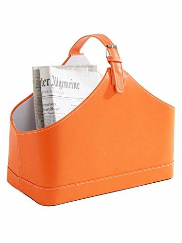 Heine Home Magazin Zeitschriften Zeitungs-Sammler Korb Ständer Ablage Box Halter Orange
