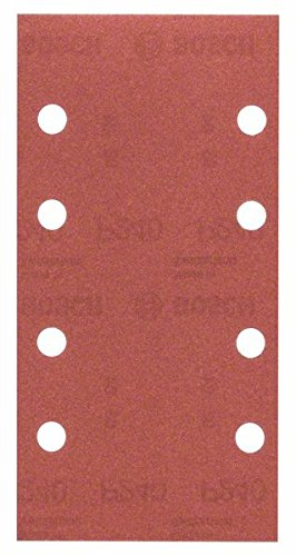 Bosch Schleifblatt (für Schwingschleifer verschiedene Materialien, 10 Stück, 93 x 185 mm, Körnung 240)