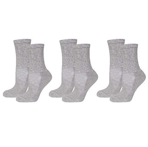 Safersox 3er Pack Mückenschutz-Socken Grau meliert, 39-42