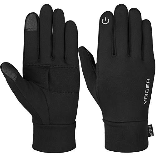 Vbiger Herren Handschuhe Touchscreen Handschuhe SMS Handschuhe Laufenhandschuhe Sport Handschuhe für Winter, Schwarz-2, M