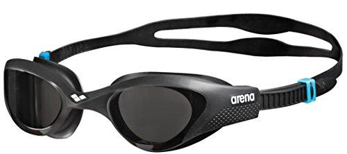 arena Unisex Training Freizeit Schwimmbrille The One (UV-Schutz, Anti-Fog Beschichtung, Harte Gläser), schwarz (Smoke-Grey-Black (545)), One Size