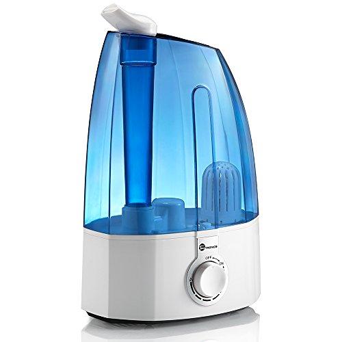 Luftbefeuchter Ultraschall TaoTronics 3,5L, 30W bis zu 40-50㎡ Raumbefeuchter für Wohn- und Schlafzimmer gegen Trocknung wegen Heizung, zwei 360° drehbare Dampfdüsen, extra feiner Keramikfilter