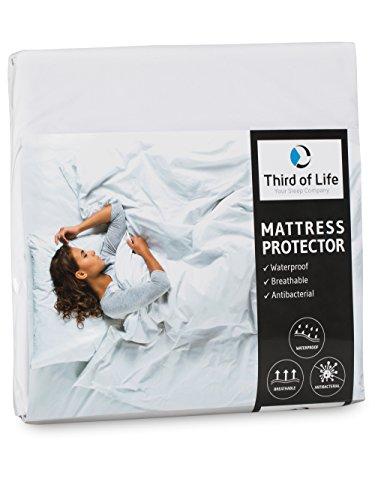 Matratzenschoner 90x200 und 180x200 wasserdicht | Atmungsaktive Matratzen-Auflage | Anti-Milben Bezug unter Spann-Bettlaken | Wasserundurchlässiger Matratzenschutz | Hygienischer Matratzen-Topper