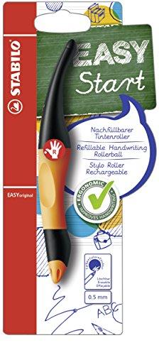 Ergonomischer Tintenroller für Rechtshänder - STABILO EASYoriginal in orange/anthrazit - Schreibfarbe blau (löschbar) - inklusive Patrone
