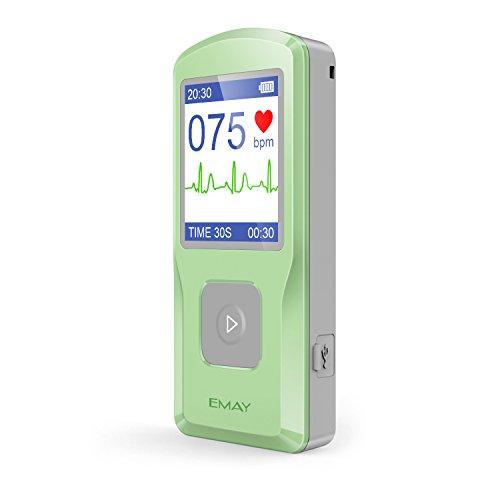 EMAY EKG Gerät, Tragbare EKG Monitor, erfasst Herzfrequenz, EKG und Symptome