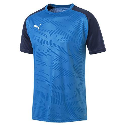 PUMA Herren Cup Training Jersey Core Trainingsshirt, Electric Blue Lemonade-Peacoat, 3XL