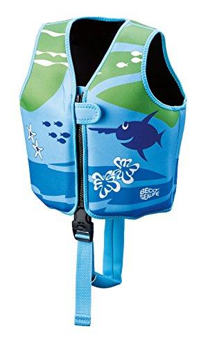Beco 09639-008 - Sealife Schwimmlernweste, Größe M für 3 - 6 Jahre, blau/grün