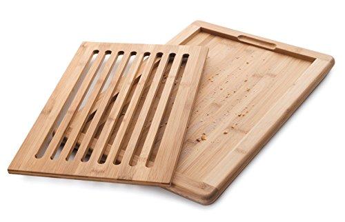 Lacor 60487 Brot Schneidebrett Bambu, Holz, braun, 40 x 30 x 2 cm