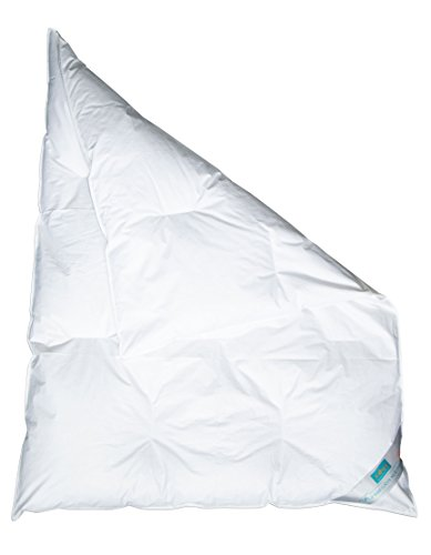 ZOLLNER Babydecke / Kinderdecke / Kinderbettdecke versteppt 100x135 cm, weiß, 90% Daunen 10% Federn, in weiteren Größen erhältlich, direkt vom Hotelwäschehersteller, Serie 'Holle'