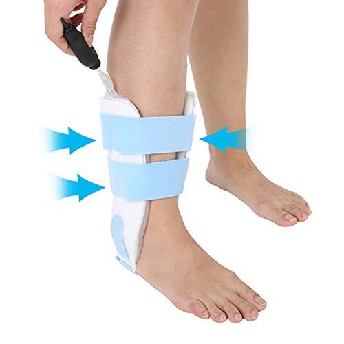 Inflatable Fußgelenkstütze, Verstellbare Knöchel Sprunggelenk Orthese, Atmungsaktive Knöchelbandage mit Klettverschluss, Fußgelenkbandage Hilft Verstauchungen zu wiederherzustellen