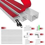 AGPTEK Kabelkanal Set, Kabel-Management-System zum Verstecken von Kabeln, Drähten und Leitungen, 40cm Kabelkanal-Abdeckung/Kabelschacht Set für Schreibtisch, Computer, TV zu Hause und Büro - MEHRWEG