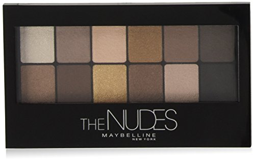 Maybelline The Nudes Lidschatten Palette, 12 Farben in einer Lidschattenpalette, viele Kombinationsmöglichkeiten, sanfte und sinnliche Taupe-, Sand- und Bronzetöne, für den angesagten Nude-Look