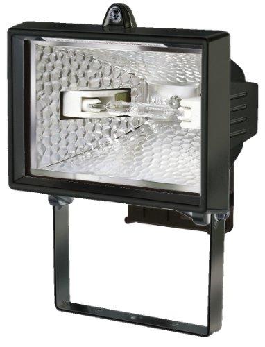 Brennenstuhl Halogenstrahler / Flutlicht Halogen ideal als Baustrahler zur Montage auf Stativ (Außenstrahler IP54 geprüft, 120 Watt) Farbe: schwarz