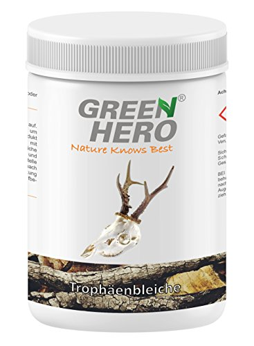 Green Hero Trophäenbleiche für Jagdtrophäen, 300 g, Zum bleichen von Rehschädeln, Hirschschädeln u.s.w.
