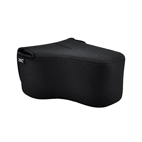 JJC DSLR Kameratasche SLR Spiegelreflex Kamera-Schutzhülle mit Neopren Schutz für Canon EOS 77D 80D 760D 750D 700D 60D Nikon D7500 7200 D7100 D5600 D5500 D5300 mit Objektiv (bis zu 148 x 113 x 188mm)