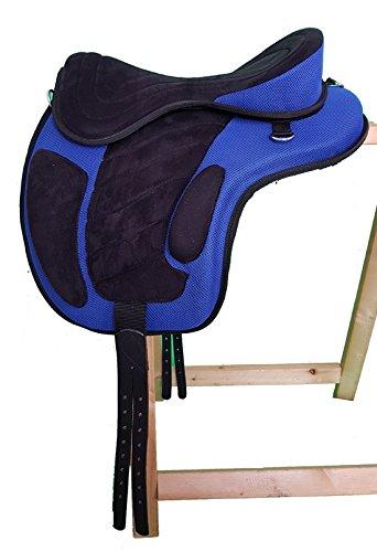 Baumloser Wanderreit Sattel LIBERTY Schwarz/Blau NEU+ Zubehör, Größe:16 Zoll