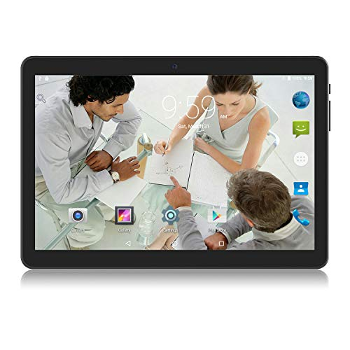Android Tablet 10 Zoll, 2GB+32GB, 3G entsperrt Phablet mit Zwei SIM-Kartensteckplätzen, 2MP+5MP Dual-Kamera, Quad Core 1,3 GHz, WiFi GPS Bluetooth, Schwarz