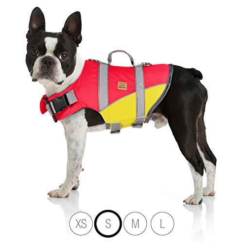 Bella & Balu Schwimmweste für Hunde - Reflektierende Hundeschwimmweste für maximale Sicherheit im und am Wasser beim Schwimmen, Segeln, Surfen, SUP, Bootsausflügen, Kayak und Kanu Fahren (Größe S)