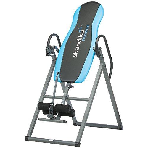 skandika Gravity Coach Klappbarer Inversionstisch, Schwerkrafttrainer und Rückentrainer, Inversionsbank- Inversion Table bis 135 kg belastbar, blau