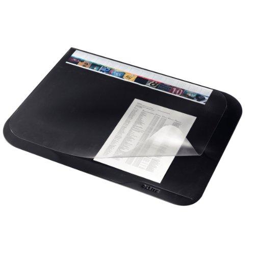 Leitz 53120095 Schreibunterlage, Soft-Touch, mit Abdeckung, 50x65 cm, schwarz