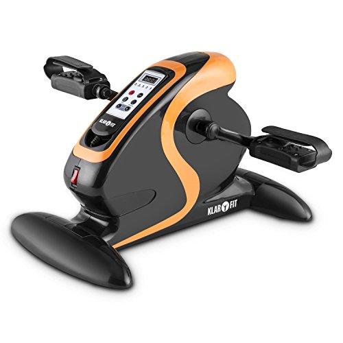 Klarfit Cycloony Minifahrrad für Beine und Arme - Mini-Bike, Pedaltrainer, Muskelaufbau, Heimtrainer, 70W, 12 Geschwindigkeitsstufen, Trainingscomputer, Vor- / Rückwärtslauf, weiß oder schwarz