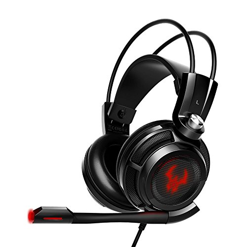 EasyAcc G1 Virtual 7.1 Surround-Sound Gaming Headset mit Vibrationsfunktion,USB PC,PS4 Gaming Kopfhörer
