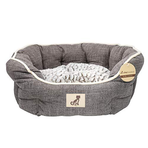Alfie Range Fleece gefüttert Warm Luxus Hundebett, groß, braun