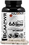 NUANT - BCAA PWR | 1100mg Verzweigtkettige Aminosäuren Leucin, Valin & Isoleucin + Vitamin B Komplex pro Kapsel | 180 Kapseln | 100% - VEGAN. | MADE IN GERMANY