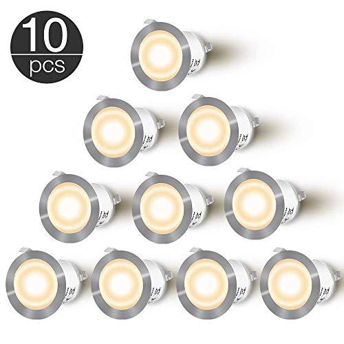 LED Einbaustrahler - CroLED 10 LED Einbauleuchte 0.6W Deckenspots IP 67 Bodeneinbaustrahler φ32mm Einbaustrahler 50000+ Stunden Einbauspots Deckeneinbauleuchte [Energieklasse A+]