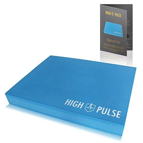 High Pulse Balance Pad inkl. Übungsposter – Innovative Koordinationsmatte für ein gelenkschonendes Ganzkörpertraining und eine Verbesserung von Gleichgewicht, Koordination und Stabilität