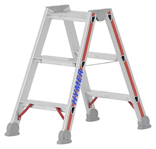 Hymer 402406 Stufenstehleiter SC 40 2 x 3 Stufen Aluminium