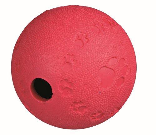 Trixie 34941 Hunde-Aktivitätsspielzeug, Snackball, aus Naturkautschuk, (farblich sortiert), 7cm