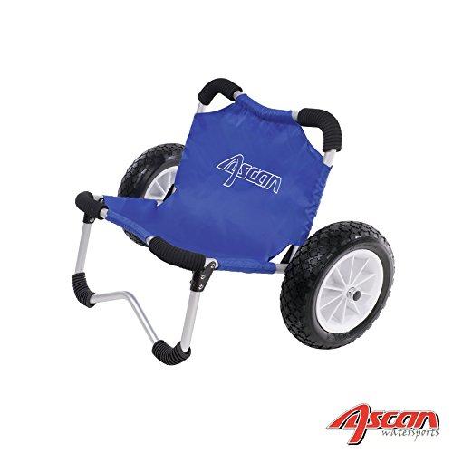 ASCAN SUP-Buggy – ideal für den Transport von SUP-Board, Kanu, Kajak, Surfbrett Board am Strand und Ufer - Zuladung 80kg – 68 x 38 x 36cm - der Wagen kann auch als Sitz verwendet werden.