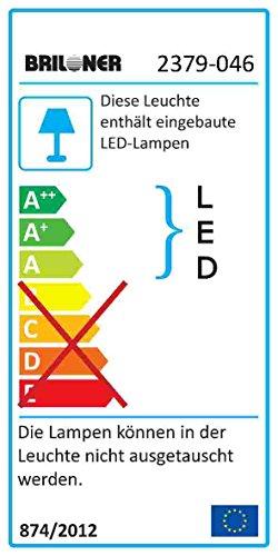 Briloner Leuchten 2379-046 A+, LED Unterbauleuchte, Unterbaulampe, Küchenlampe, Schrankunterbauleuchte , Küchenunterbauleuchte, Lichtleiste, Küchenleuchte, Kunststoff, 4 W, Integriert, Weiß, 31.3 x 2.2 x 3 cm