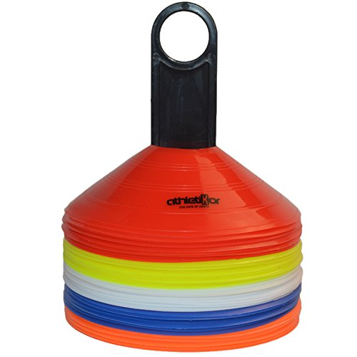 Markierungshütchen 50'er SET, gelb, weiß, blau, rot, orange von athletikor