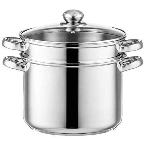 Style'n Cook Spaghettitopf Ø 24 cm Edelstahl inkl. Gemüseeinsatz