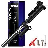 Linko Mini Fahrradpumpe für Presta & Schrader Ventile, Fahrradpumpe Max. Druck 120 PSI / 8 Bar Fahrradluftpumpe, Handpumpe für Basketbälle, Fußbälle, Rennrad und Mountainbike