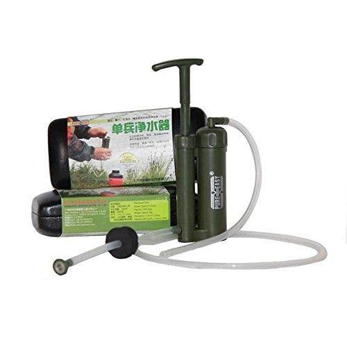 Wasserfilter / Reiniger, toll für Soldaten, leicht tragbar, Kunststoff/Keramik, 0,1Mikrometer für Survival-Training, Wandern, Camping