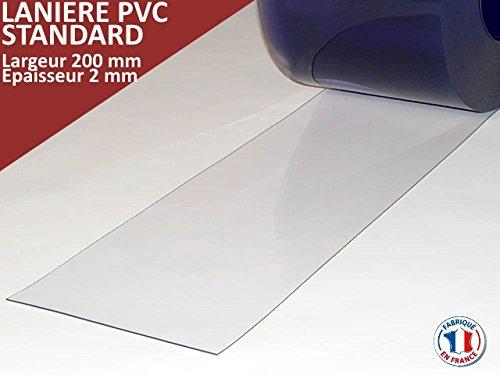 PVC Lamellenvorhang Lamellen Streifenvorhang 20cm breit Menge: 1m (Meterware)