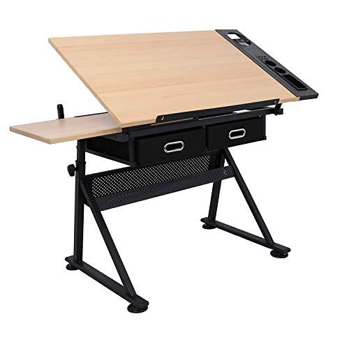 D4P Display4top Zeichentisch Schreibtisch Architektentisch Arbeitstisch Tisch Bürotisch mit Schubladen