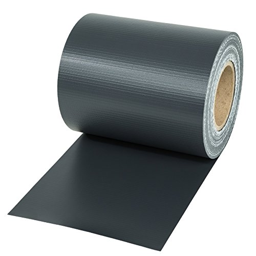 TecTake PVC Sichtschutzfolie Sichtschutzstreifen inkl. Befestigungsclips 450g/m² - Diverse Modelle - (35m anthrazit | Nr. 401863)