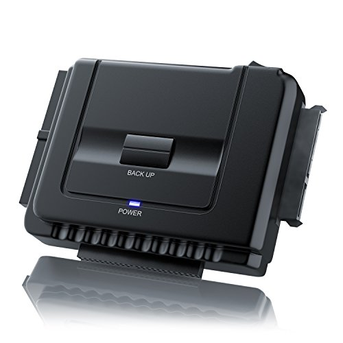 CSL - IDE / SATA zu USB 3.0 Combo Dockingstation | bis zu 5 Gb/s | One Touch Backup | Dualbetrieb | Power-LED | 2,5 Zoll und 3,5 Zoll SATA, HDD & IDE Laufwerke / DVD-ROM, CD-ROM, CD-RW, DVD-RW, DVD+RW Laufwerke | inkl. Klon-Funktion