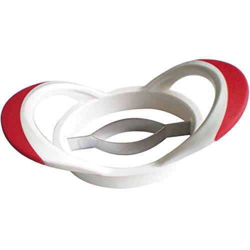 Westmark Mangoteiler, 20 x 10,5 x 6,5 cm, Rostfreier Edelstahl/Kunststoff, Weiß/Rot, 51642270