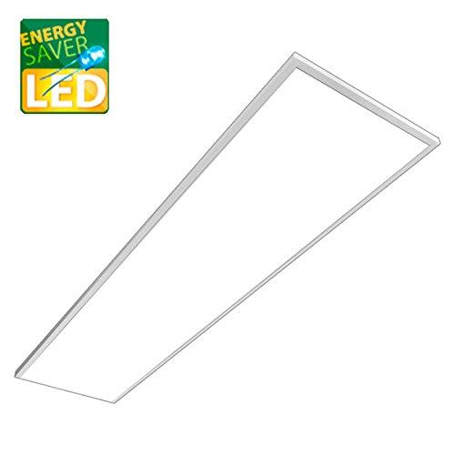 LED Panel Pendel, MARA weiß, 120x30cm, 42W LED Bürolampe als Pendelleuchte, neutralweiß, Büroleuchten, Deckenleuchte
