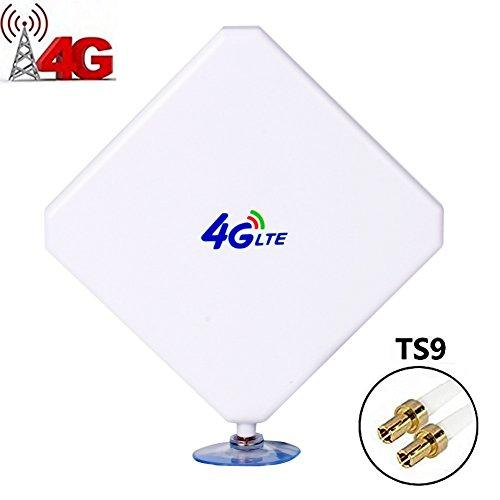 TS9 4G Hochleistungs LTE Antenne 35dBi Netzwerk Ethernet Verstärker-Antenne Richtantenne Signalverstärker Verstärker für Huawei E5372 E398 E3276 E392 E3272 E8278 R212 MF93 R215,Vodafone R215 R212 K5150 K5006Z,ZTE MF821D MF910 MF93E MF827 etc
