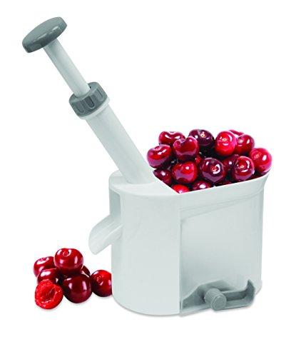 FACKELMANN Entkerner für Kirschen und Oliven, Metall, Mehrfarbig