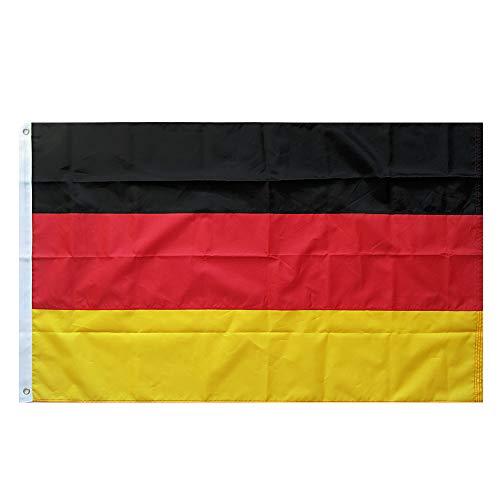 Lixure Deutschland Flagge/Fahne Top Qualität für Windige Tage 90x150cm Nationalflagge-Durable 210D Nylon Draußen/Drinnen Dekoration Flagge - Nicht billiger Polyester MEHRWEG