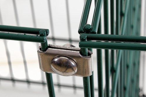 Eckverbinder schwere Plättchen für Zaun, Gabionen, Komposter, Doppelstabmatten, Hochbeete und Holzmieten aus deutscher Produktion