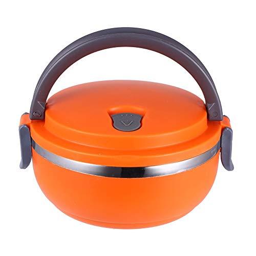 Yosoo Lunchbox Tragbare Isolierung Edelstahl Innendämmung Thermal Leakproof 1/2/3 Fächer mit Griff Foodbehälter Warmhaltebox für Essen (4 Layer, Grün)